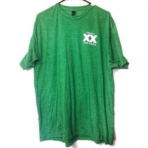 Tultex Short Sleeve Tee Tshirt Dos Equis Green XL